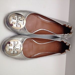 Tory burch Minnie travel ballet flats authentic